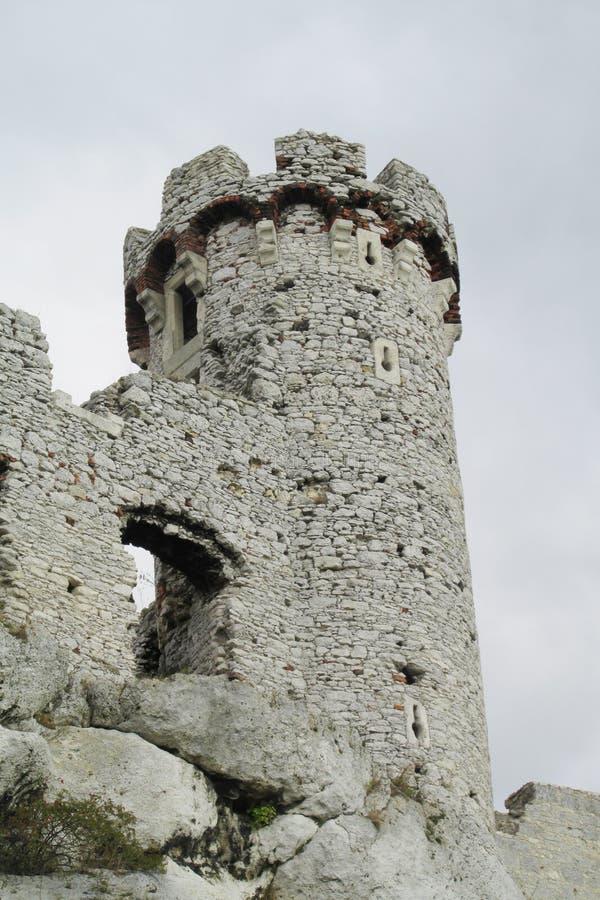 Torre do castelo de Medival fotos de stock royalty free