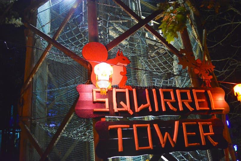 Torre do esquilo em Robin Hill imagens de stock