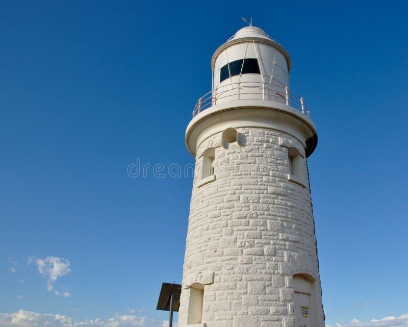 Torre do farol da pedra calcária do ponto do lenhador fotos de stock royalty free