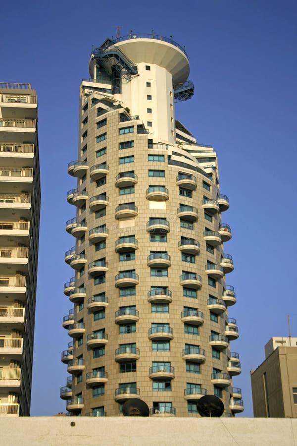 Torre do hotel em Telavive imagens de stock