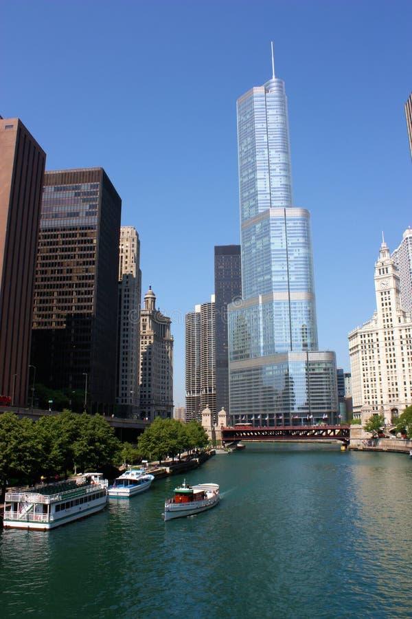 Torre do International do trunfo de Chicago imagem de stock
