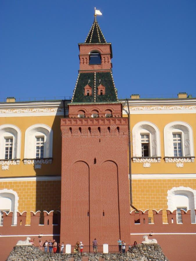 Torre do Kremlin de Moscou, Rússia fotos de stock royalty free