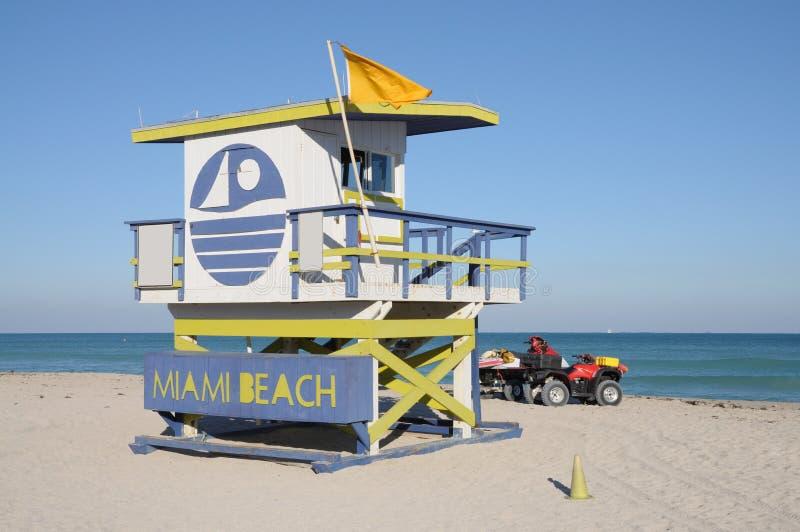 Torre do Lifeguard em Miami Beach imagens de stock royalty free