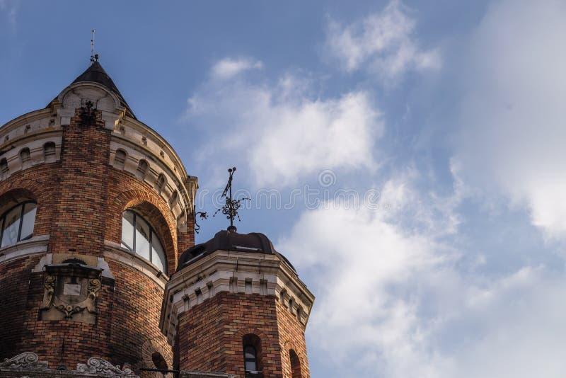 A torre do milênio conhecida como a torre de Gardos no condado de Zemun de Belgrado o capital da Sérvia A ideia da peça superior  fotografia de stock