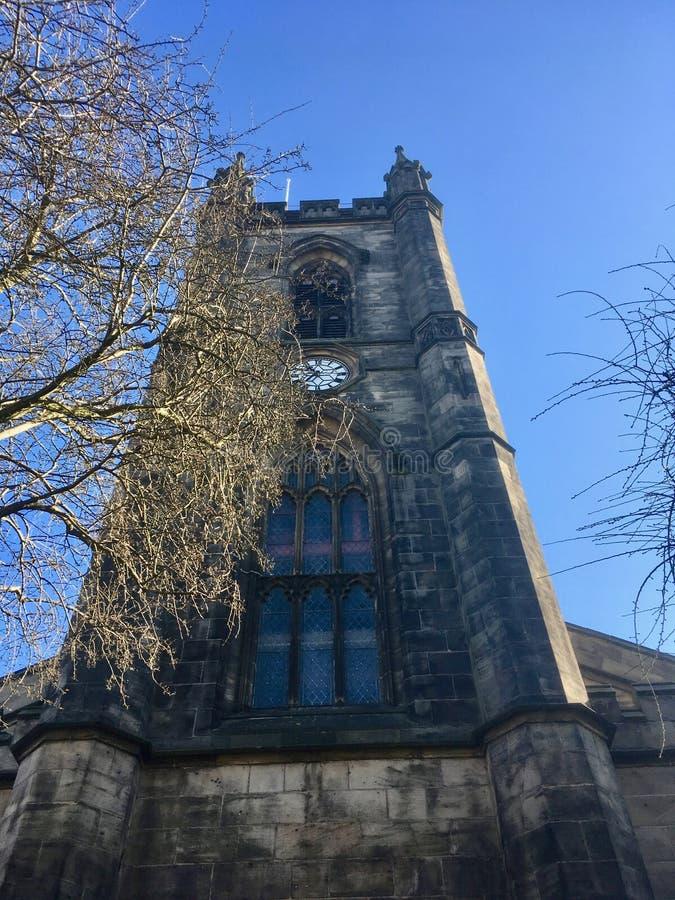 Torre do ministro igreja Stoke imagens de stock royalty free