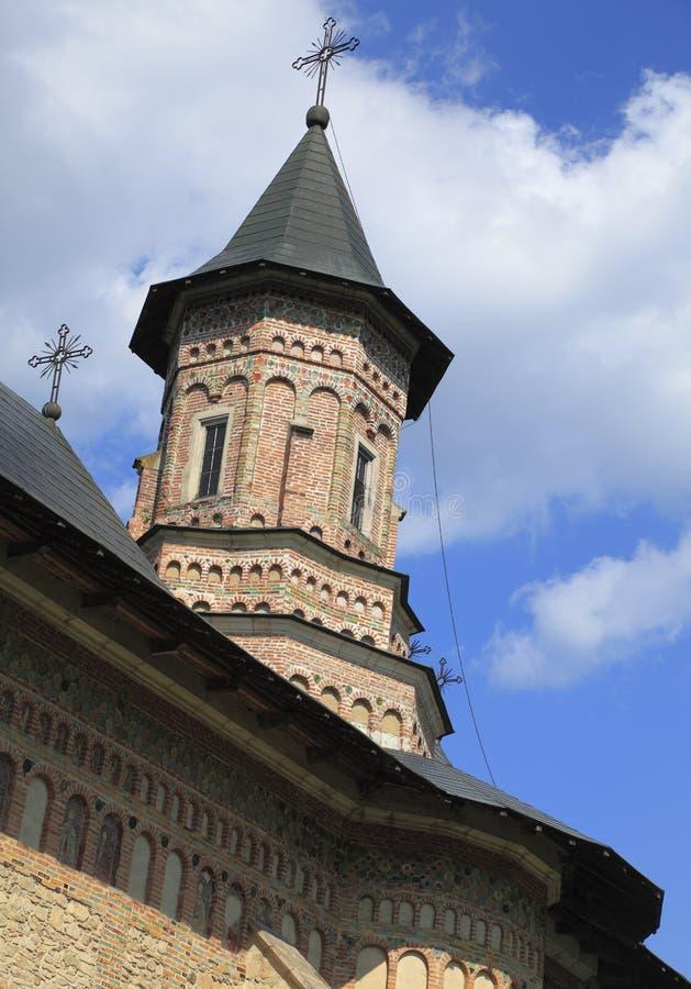 Torre do monastério de Neamt, Moldávia, Romania imagens de stock