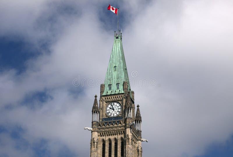 Torre do monte do parlamento fotografia de stock