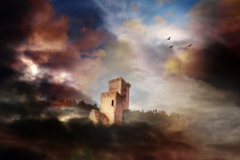 Torre do mundo da fantasia imagens de stock
