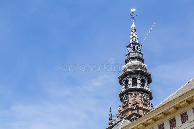 Torre do Nieuwe Kerk em Haarlem nos Países Baixos imagens de stock