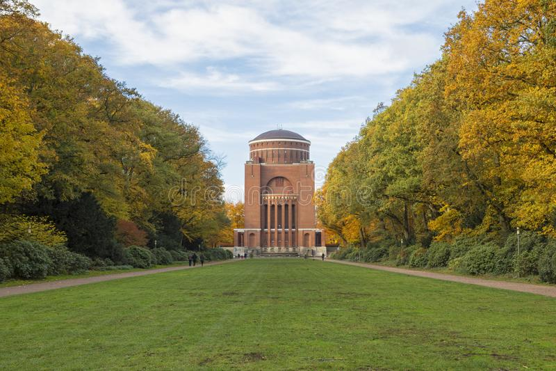 Torre do planetário em Stadtpark, Hamburgo fotos de stock royalty free