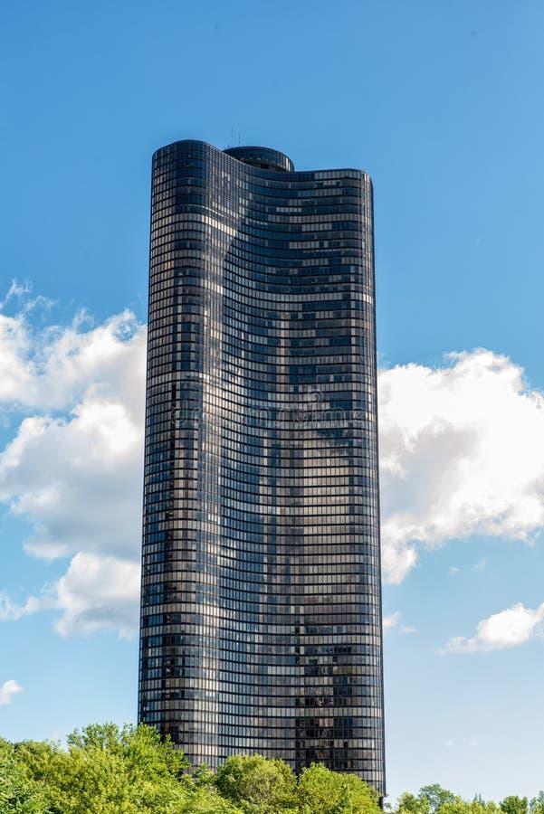 Torre do ponto de Chicago, lago imagens de stock royalty free