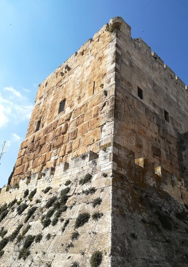 Torre do rei Davide Cidade velha Jerusalem imagem de stock royalty free