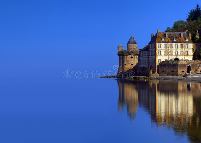 Torre do relógio do castelo do Saint Michel fotos de stock royalty free