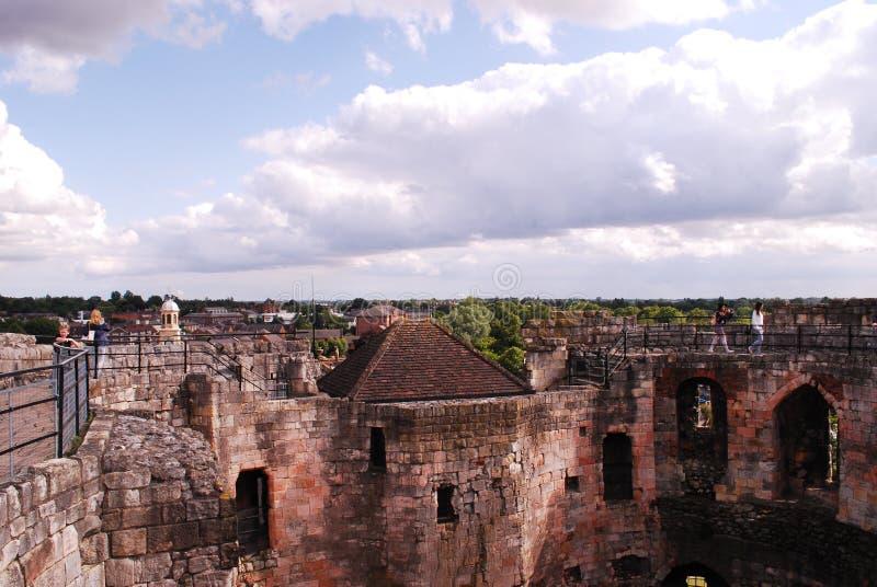 Torre do ` s de Clifford, você pode ver até o castelo de York fotos de stock
