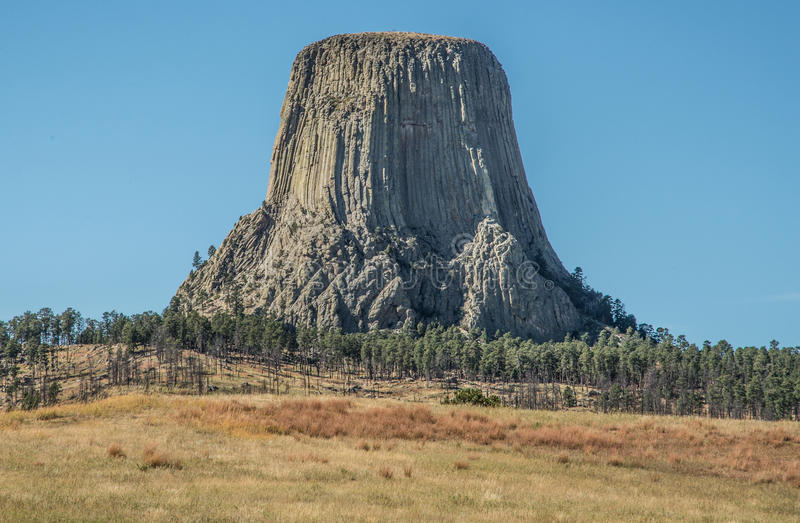 Torre do ` s do diabo em Wyoming fotografia de stock royalty free