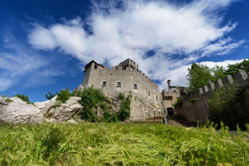 Torre do secon de São Marino, Itália imagem de stock royalty free