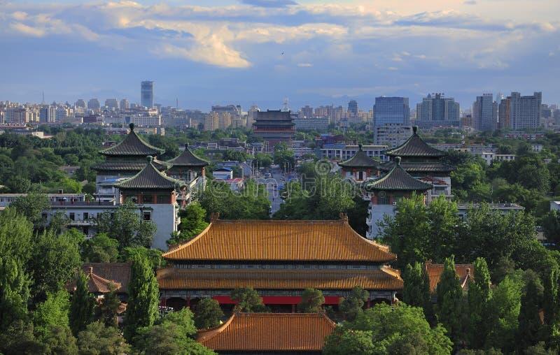 Torre do skyline-Cilindro de China Beijing fotos de stock