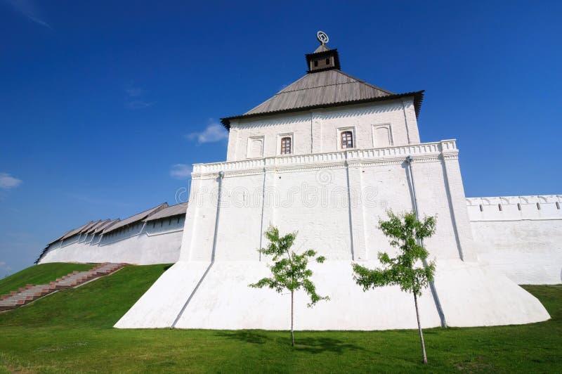 A torre do taynitskaya do século XVI do Kremlin de Kazan, república de Tartaristão fotos de stock royalty free