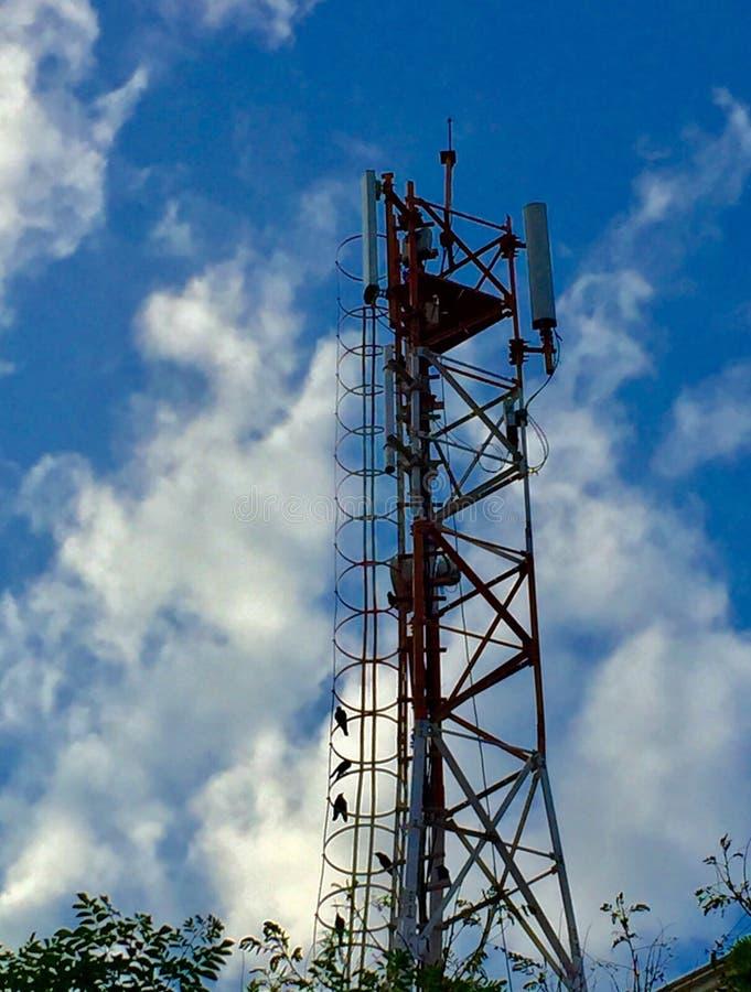 Torre do telefone celular fotos de stock