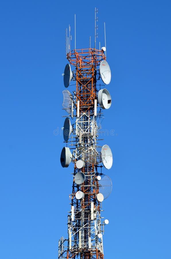 Torre do telefone de pilha fotografia de stock