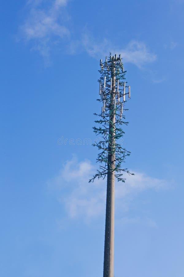 Torre do telefone de pilha do discrição fotografia de stock royalty free