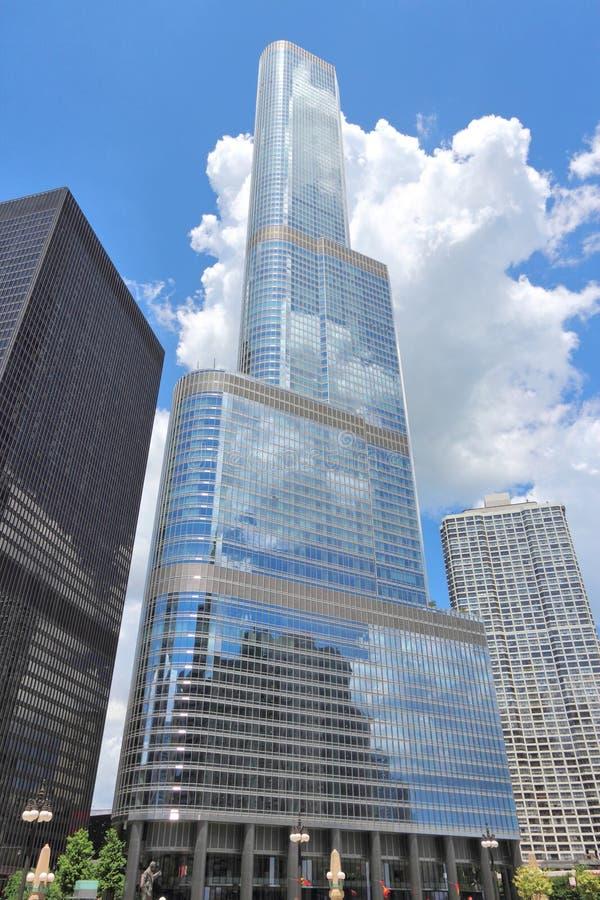 Torre do trunfo, Chicago imagem de stock
