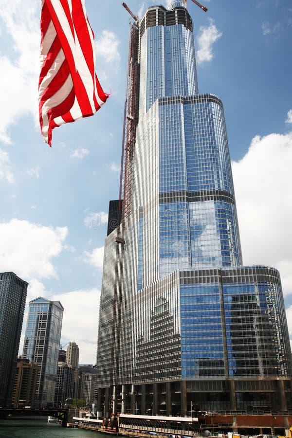 Torre do trunfo de Chicago. foto de stock