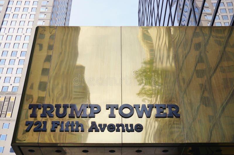 A torre do trunfo em New York fotografia de stock royalty free