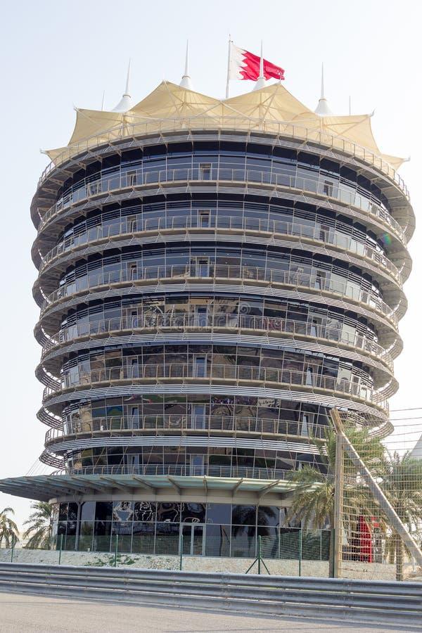 Torre do VIP do autódromo imagem de stock