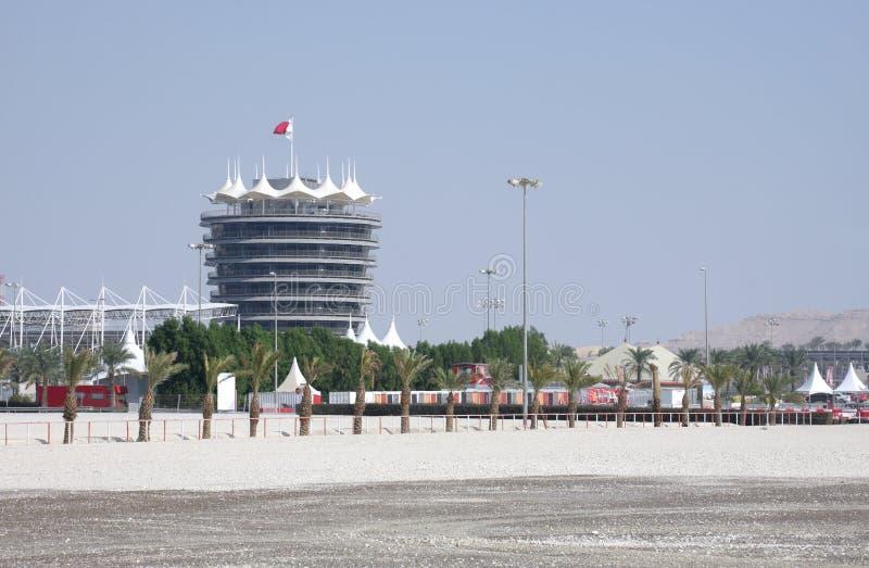 Torre do VIP no circuito do International de Barém imagens de stock royalty free