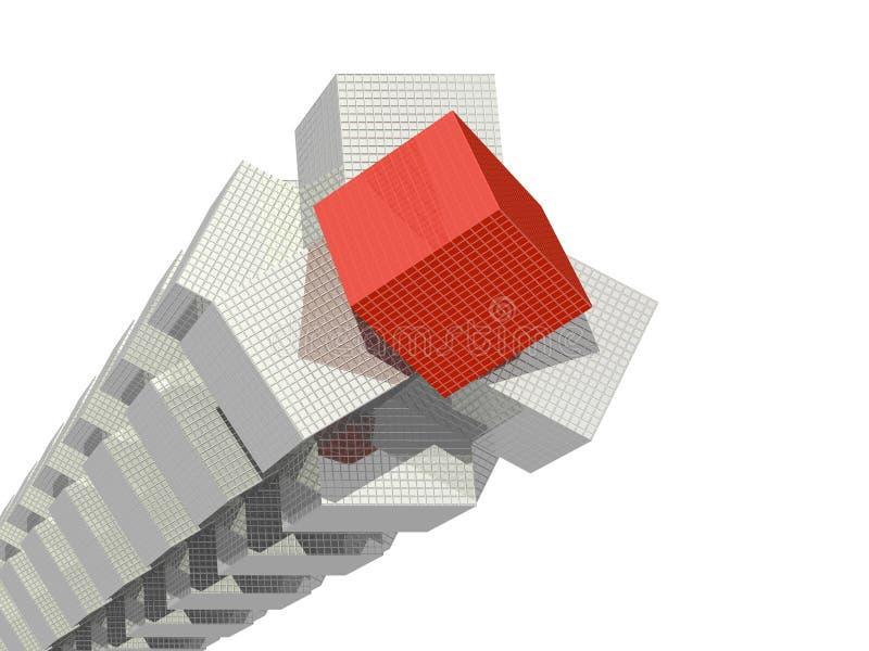 Torre dos cubos ilustração stock