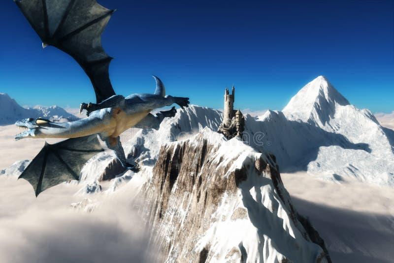 Torre dos dragões ilustração stock
