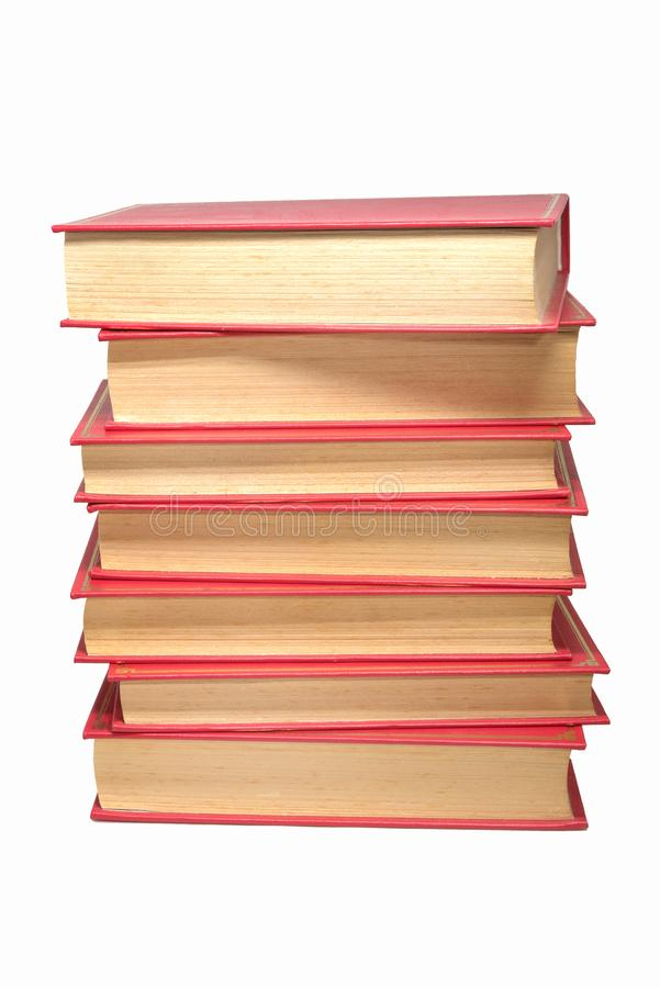 Torre dos livros, livros velhos foto de stock