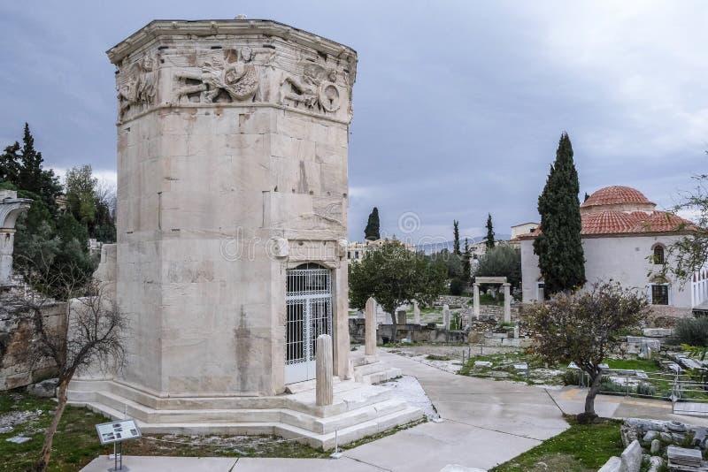 Torre dos ventos, Atenas, Greece imagem de stock