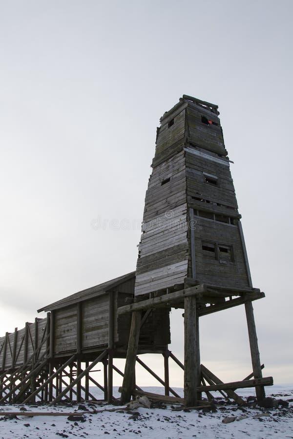 Torre e cremalheira para observar dentro lobo-marinhos do norte foto de stock