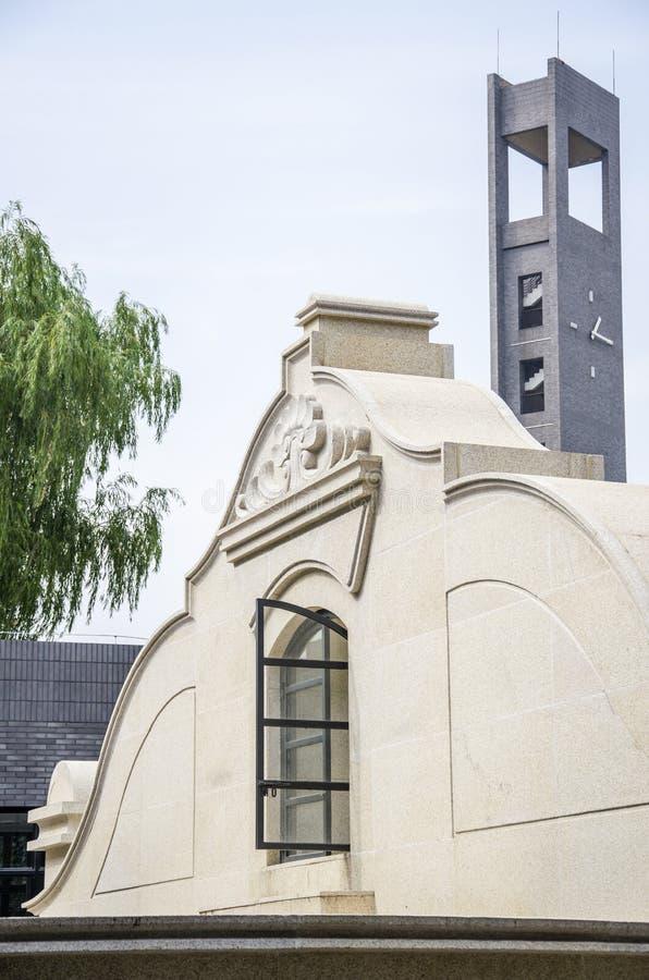 Torre e janelas de Bell foto de stock