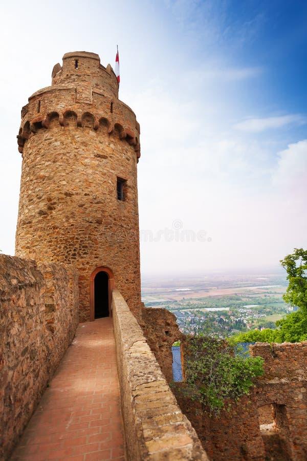 A torre e a parede de Auerbach permanecem, Alemanha foto de stock