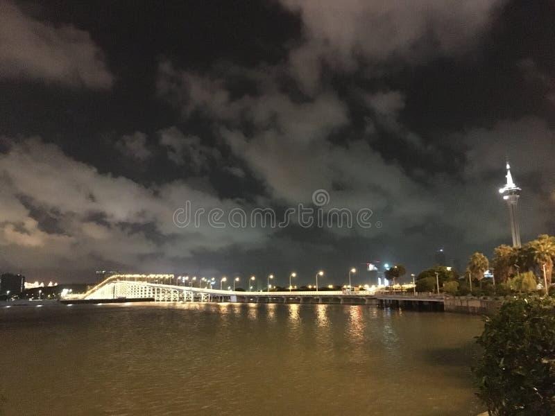 Torre e ponte de Macau foto de stock