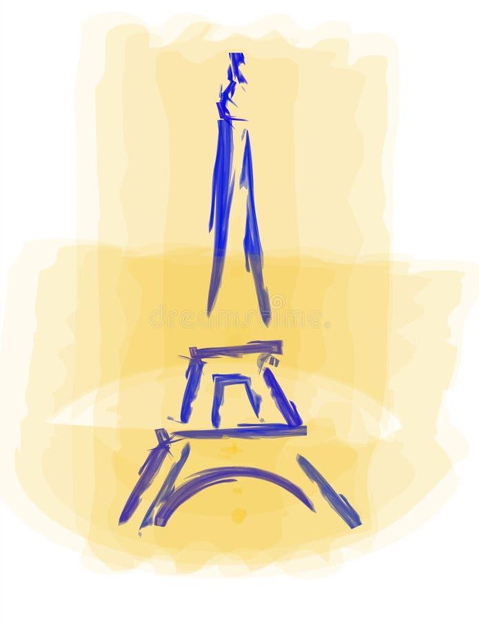 Torre Eiffel illustrazione di stock