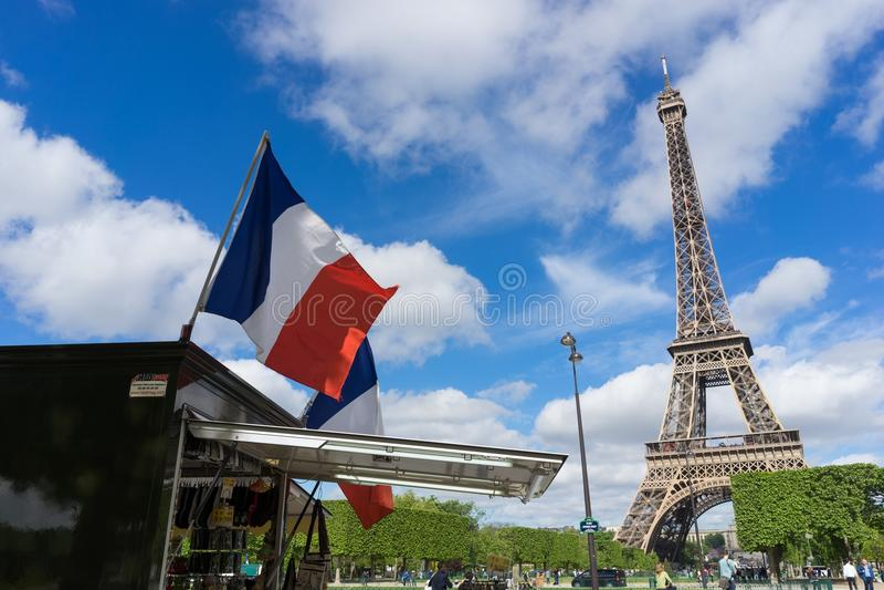 A torre Eiffel imagens de stock