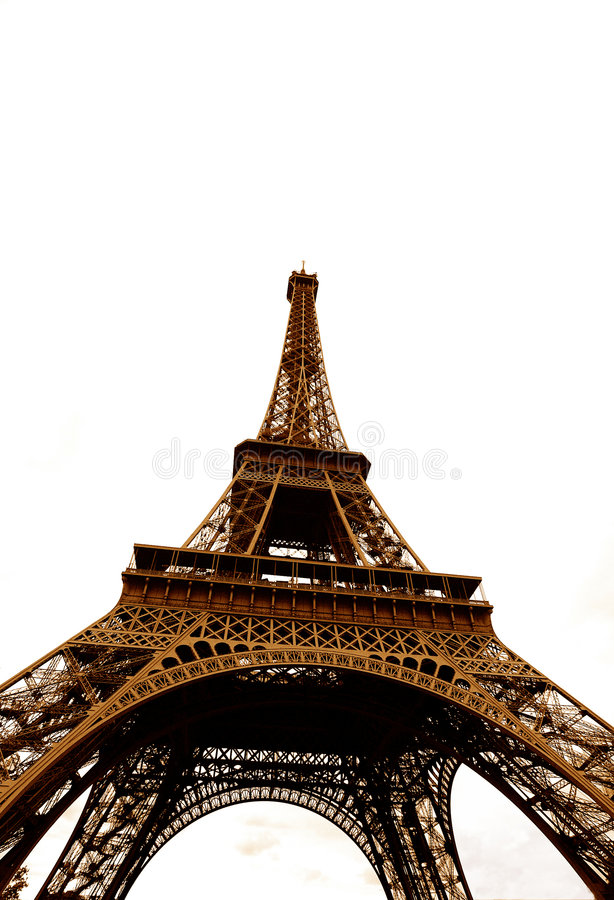 Torre Eiffel, angolo differente fotografie stock