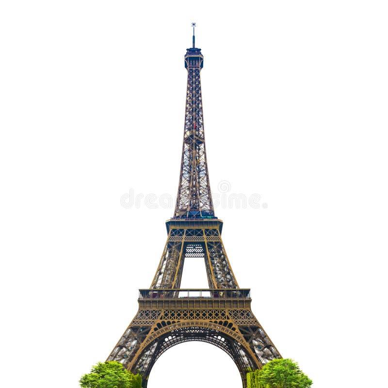 Torre Eiffel com fundo branco foto de stock