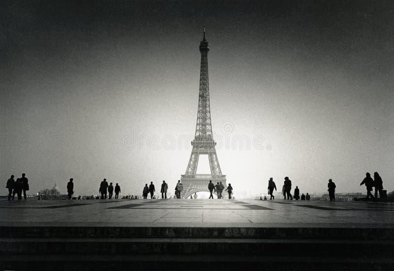 Torre Eiffel d'annata fotografie stock libere da diritti