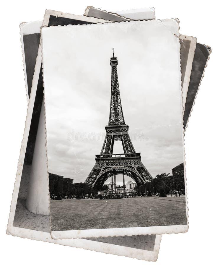 Torre Eiffel d'annata della foto a Parigi fotografia stock libera da diritti