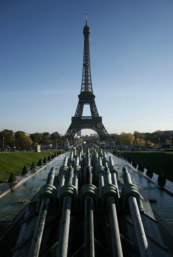 Torre Eiffel da Trocadero immagini stock libere da diritti