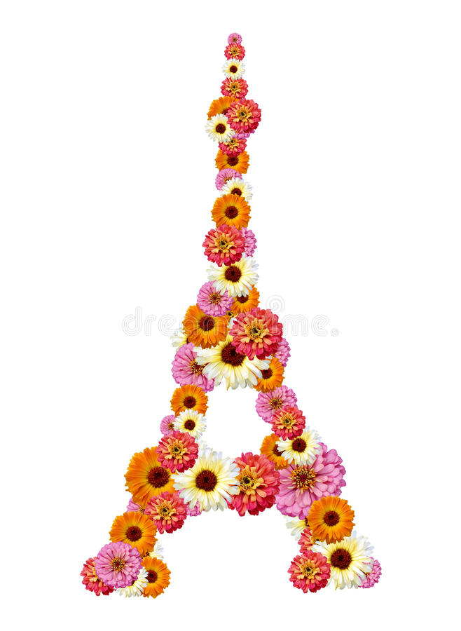 Torre Eiffel das flores foto de stock royalty free