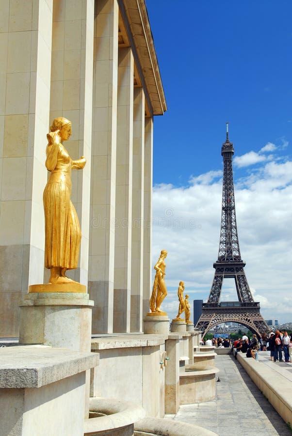 Torre Eiffel de Trocadero imágenes de archivo libres de regalías