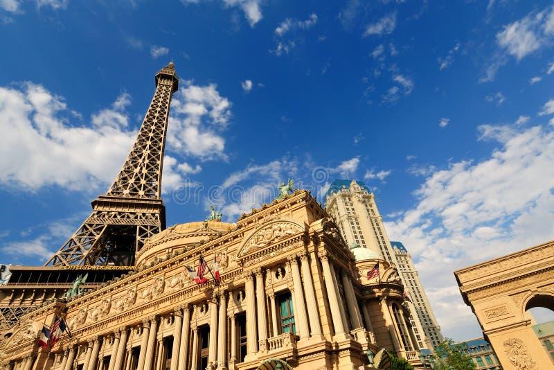 Torre Eiffel del hotel de París en Las Vegas imagen de archivo libre de regalías