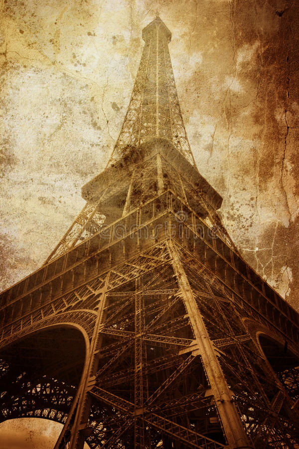 Torre Eiffel dell'annata fotografie stock