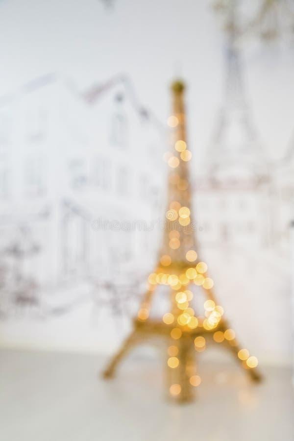 Torre Eiffel do ano novo foto de stock